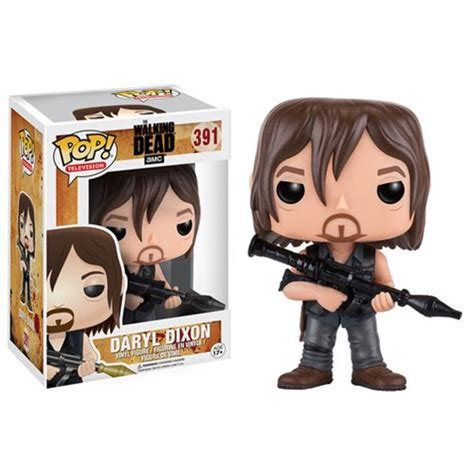 figurine walking dead funko pop daryl dixon rocket launcher 9cm funko pop cin 233 ma tv