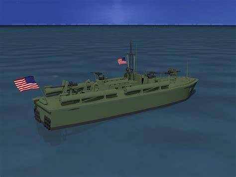 elco 2200uf6 3 elco pt boat pt 290 3d model rigged max obj 3ds lwo lw lws