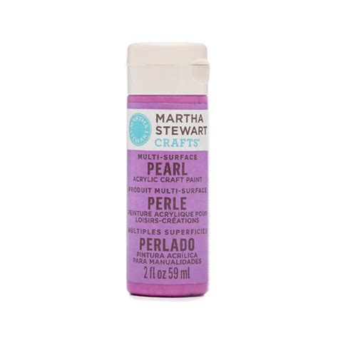 martha stewart 174 pearl acrylic paint purple gerbera 2 oz