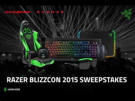 Razer Giveaway Winners - win razer gear blizzcon 2015 sweepstakes razer blizzcon youtube