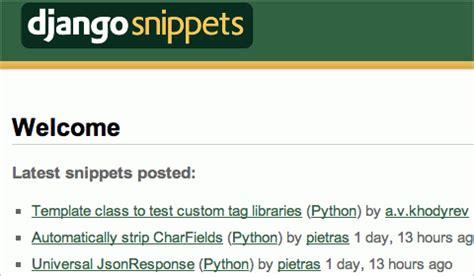 django tutorial offline 45 excellent code snippet resources and repositories
