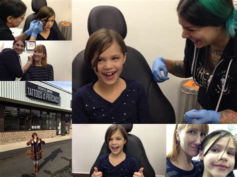 tattoo parlor baby piercing mother daugther ear piercings and why we went to a tattoo