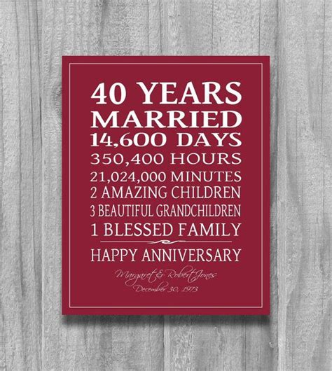 25 best ideas about ruby wedding anniversary gifts on 40th wedding anniversary gift