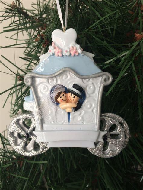 Wedding Carriage Personalised Christmas Decoration