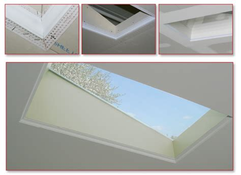 create flush baseboards with architectural l bead trim add a decorative edge to a skylight trim tex drywall