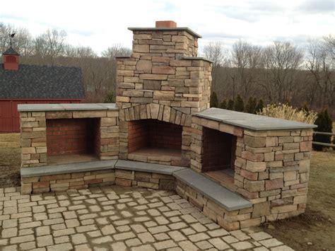 outdoor corner fireplace custom outdoor fireplace
