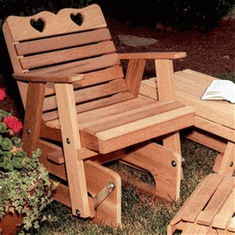 Cedar Country Hearts Rocking Glider Chair
