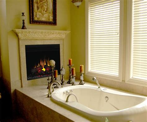 bathroom electric fireplace would love to have an electric fireplace somewhere in the