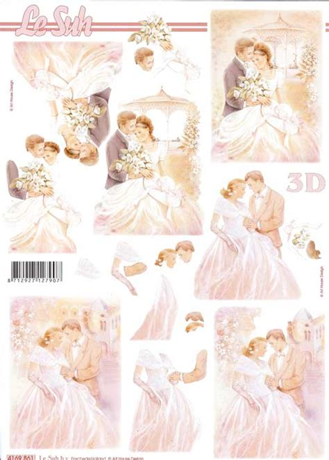 Wedding Decoupage Sheets - wedding 4 3d decoupage sheet from le suh