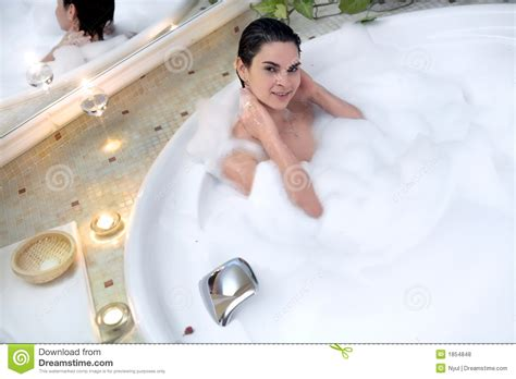 one girl one bathtub bath in a whirlpool hot tub jacuzzi royalty free stock