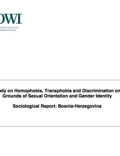 Sexual Orientation Discrimination Essay by Study On Homophobia Transphobia And Discrimination On Grounds Of Sexual Orientation And Gender