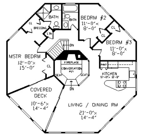 octagon shape house plans colonial style house plan 4 beds 3 baths 2078 sq ft plan 456 34