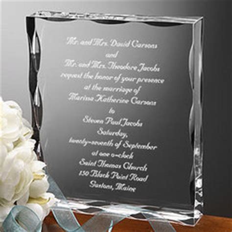 Wedding Invitations Keepsake Ideas by Our Wedding Invitation Engraved Keepsake Findgift