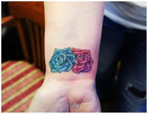 small rose tattoo on wrist 52 wrist colorful designs