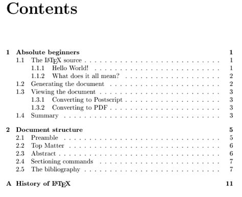 How To Write A Table Of Contents by Tables Of Contents Getting To Grips With Andrew