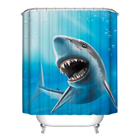 waterproof bathroom ocean fish theme bathroom shower curtain home decor