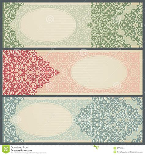 Vintage Style Photo Cards Template by Vintage Greeting Cards With Swirls And Floral Motifs In