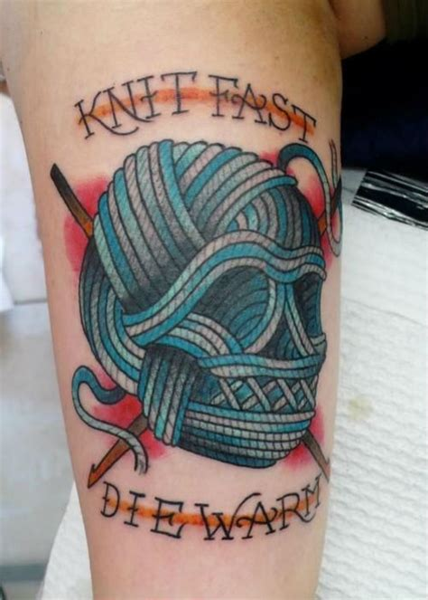 knitting tattoo knitting ink