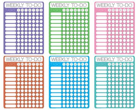 printable calendar checklist dotty printable weekly to do checklists free printable