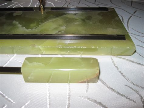 schreibtisch marmor schreibtisch garnitur set egz marmor onyx 50er jahre selten