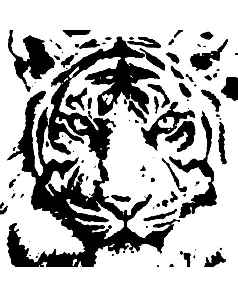 tiger template free downloadable patterns wood carving studio