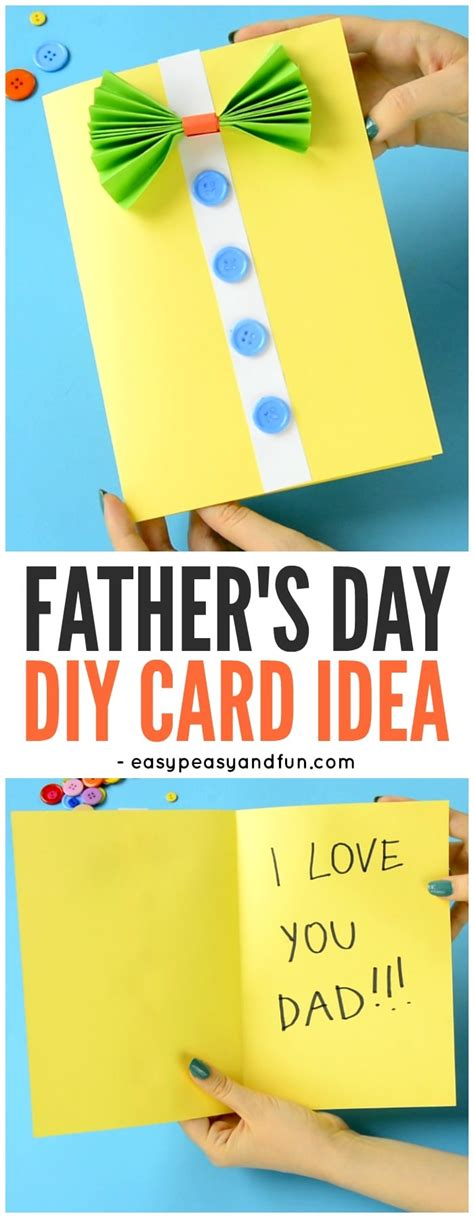 simple diy crafts for bow tie shirt s day card idea easy peasy and