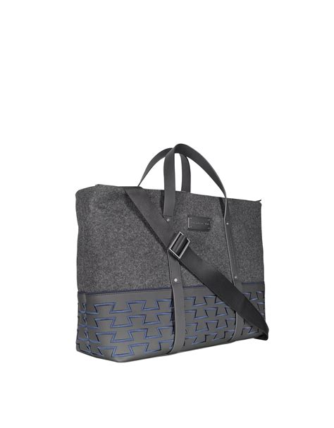 porsche purse porsche design large tote bag in gray for men grey lyst