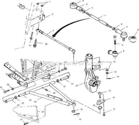polaris achak parts list  diagram