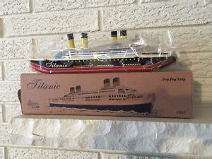 toy boat steam engine titanic tin litho toy boat 1912 w pop pop steam engine ebay