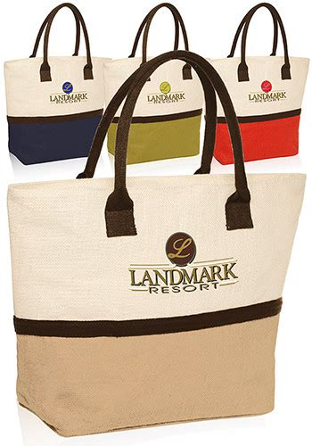 Giveaway Bags Wholesale - promotional two tone jute beach tote bags tot3773 discountmugs