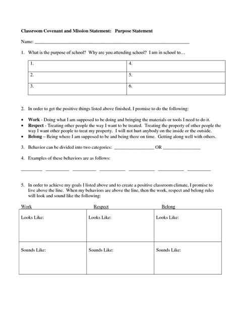 social contract template social contract worksheet template teacherhood
