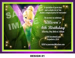 tinkerbell invitation invitation disney tinkerbell