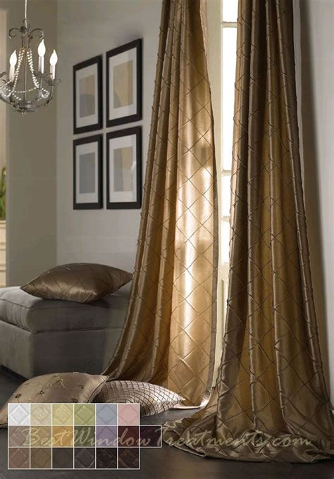 120 inch long drapes colchester diamond pintuck taffeta faux silk fabric in