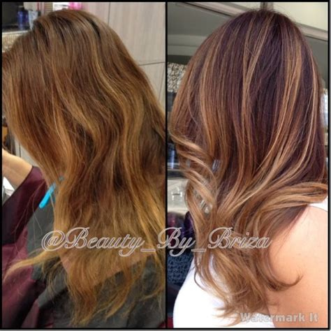 wash hair after balayage highlights before and after darkened her base and added a full head
