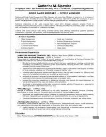 Resume Sample Sales Manager by Sales Manager Resume Student Resume Template