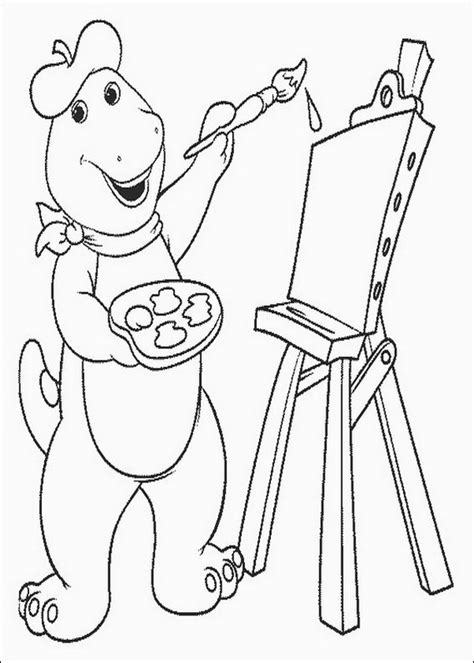 free coloring pages of painting