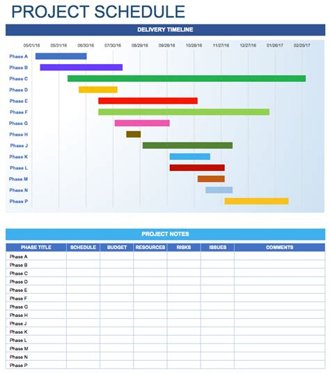 free excel project schedule template free daily schedule templates for excel smartsheet