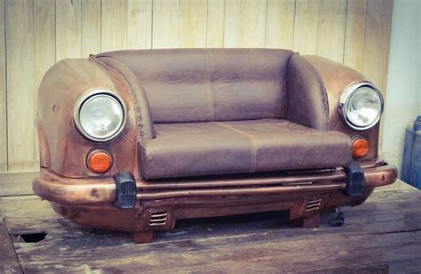 car sofas reclaimed car sofa the awesomer