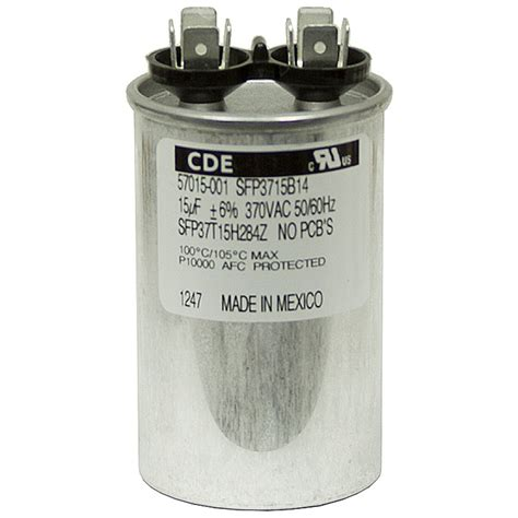 ac motor run capacitor calculation 15 mfd 370 vac run capacitor cde sft37t15h284z f motor run capacitors capacitors