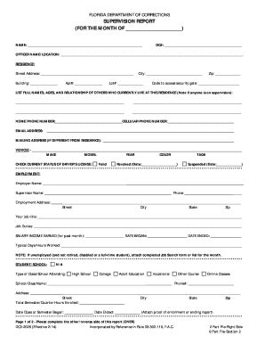 Florida Department Of Corrections Number Search Florida Form Supervision Fill Printable Fillable Blank Pdffiller
