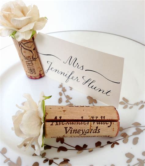 diy photo or place card holders craftbnb single cork place card holder diy wedding projects