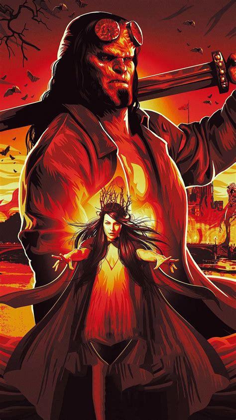 hellboy   poster  wallpaper hellboy