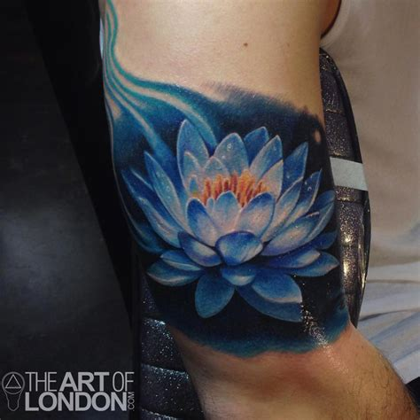 blue lily tattoo design tatueringar 25 lotus flower designs