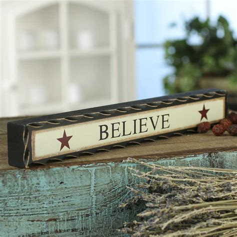 quot believe quot chunky wood block sign americana decor home