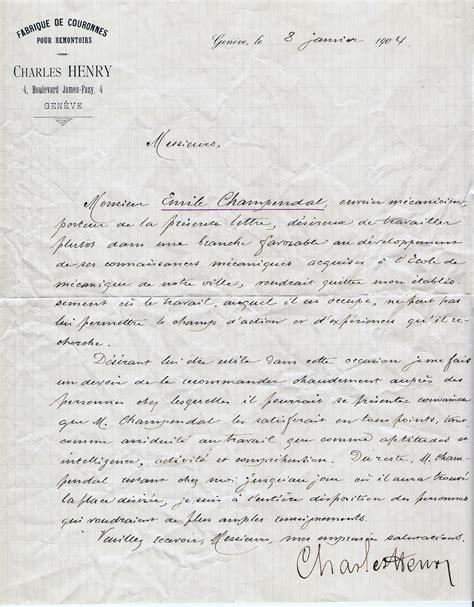 Exemple Lettre De Recommandation Ouvrier Lettre De Recommandation 1 333 Notre Histoire