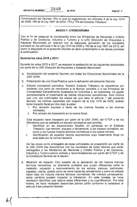 decreto ley 7 2014 de 23 de diciembre por el que se por el cual se reglamentan los art 237 culos 4 de la ley 1314