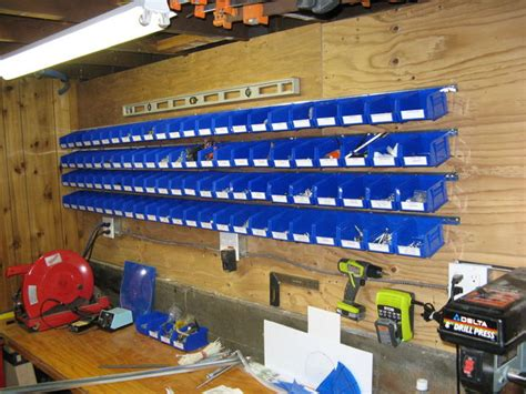 Garage Hardware Storage Ideas Easy Wall Mounted Storage Bins For Hardware Parts