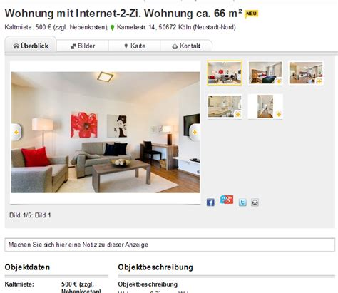 Wohnung Mieten Köln Immowelt by Wohnungsbetrug Mirco Steinke Myself