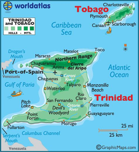 5 themes of geography trinidad and tobago trinidad and tobago map free coloring pages