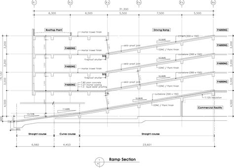 Section Requirements by The Gallery For Gt Parking Garage R Plan